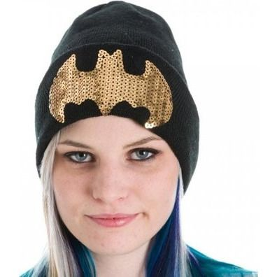 Batman Sequined Cuff Beanie Uncanny!