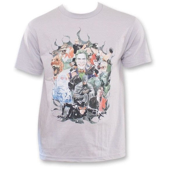 Sketch Batman Villains White Shirt