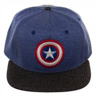 Captain America Two Tone Blue and Gray Snapback