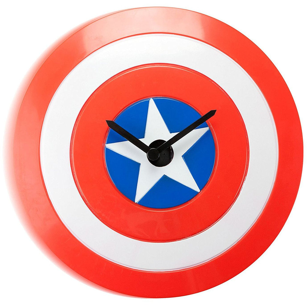 Captain America Shield Wobbly Clock