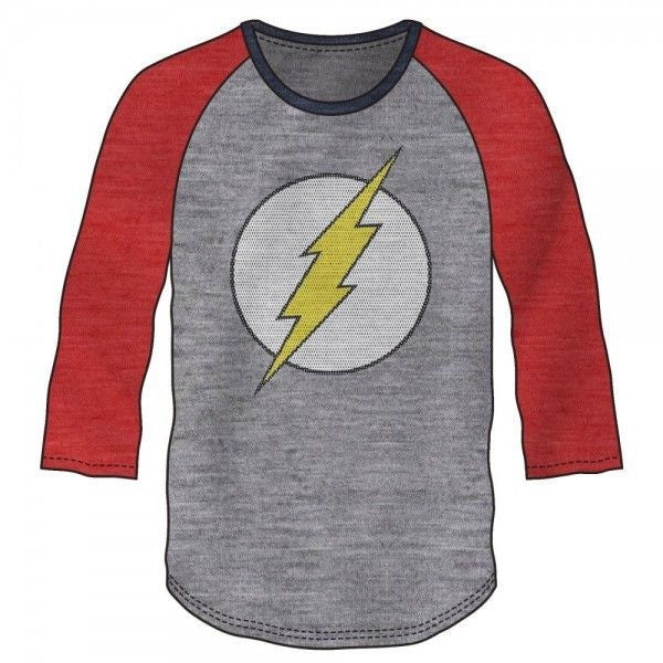 Flash Red and Grey Baseball Shirt