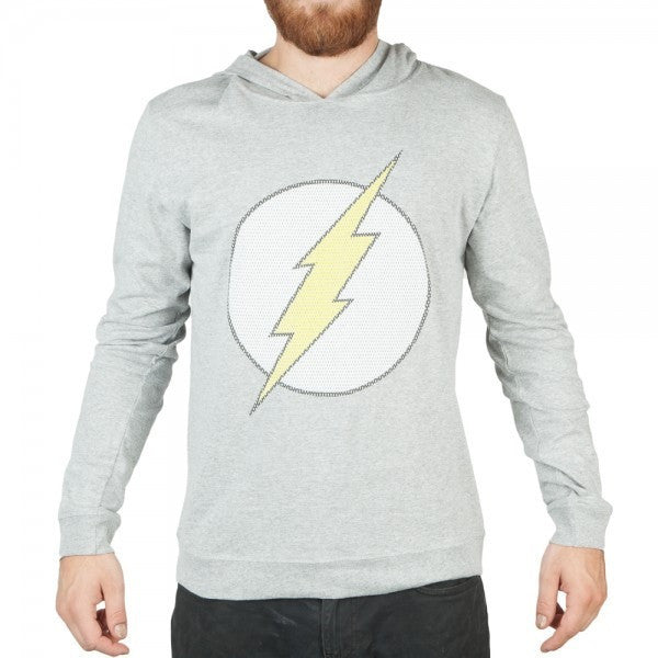 Flash Logo Hooded Long Sleeve Shirt