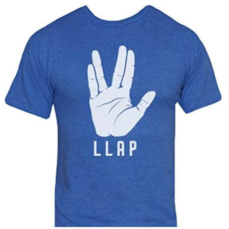 Star Trek LLAP Blue Juniors Shirt Uncanny!