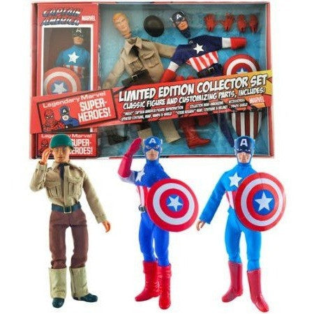 Captain America Retro Action Figure Set Uncanny!