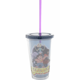 Steven Universe Group Plastic Travel Cup with Straw Uncanny!