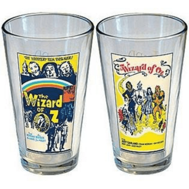 Wizard of Oz Movie Posters Pint Glass Set Uncanny!
