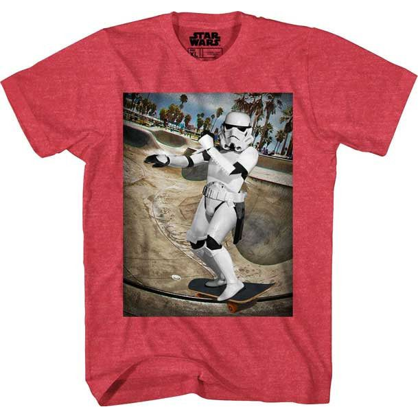 Skateboarding Stormtrooper Youth Shirt Uncanny!