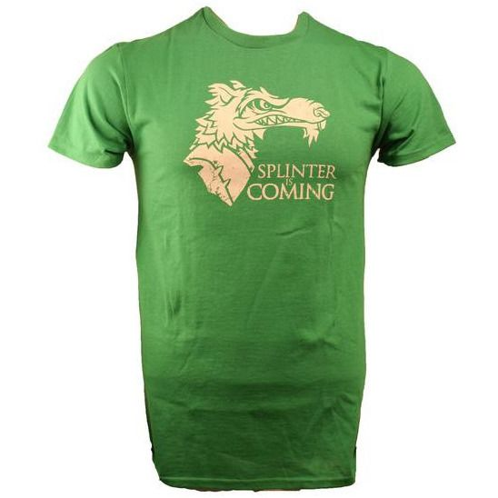 TMNT Splinter is Coming Green Shirt