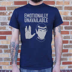 Star Trek Emotionally Unavailable Navy Shirt