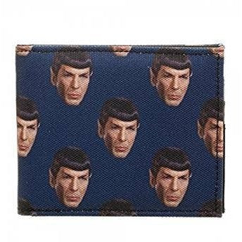 Star Trek Mr. Spock Face Bi fold Canvas Wallet