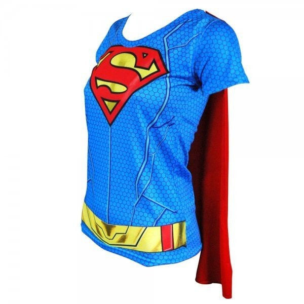 Supergirl Costume Shirt w/Cape