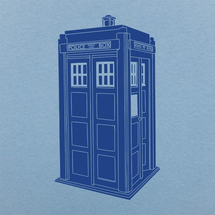 Doctor Who Tardis Light Blue Shirt Uncanny!