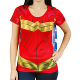 Wonder Woman Costume Shirt w/Cape Uncanny!