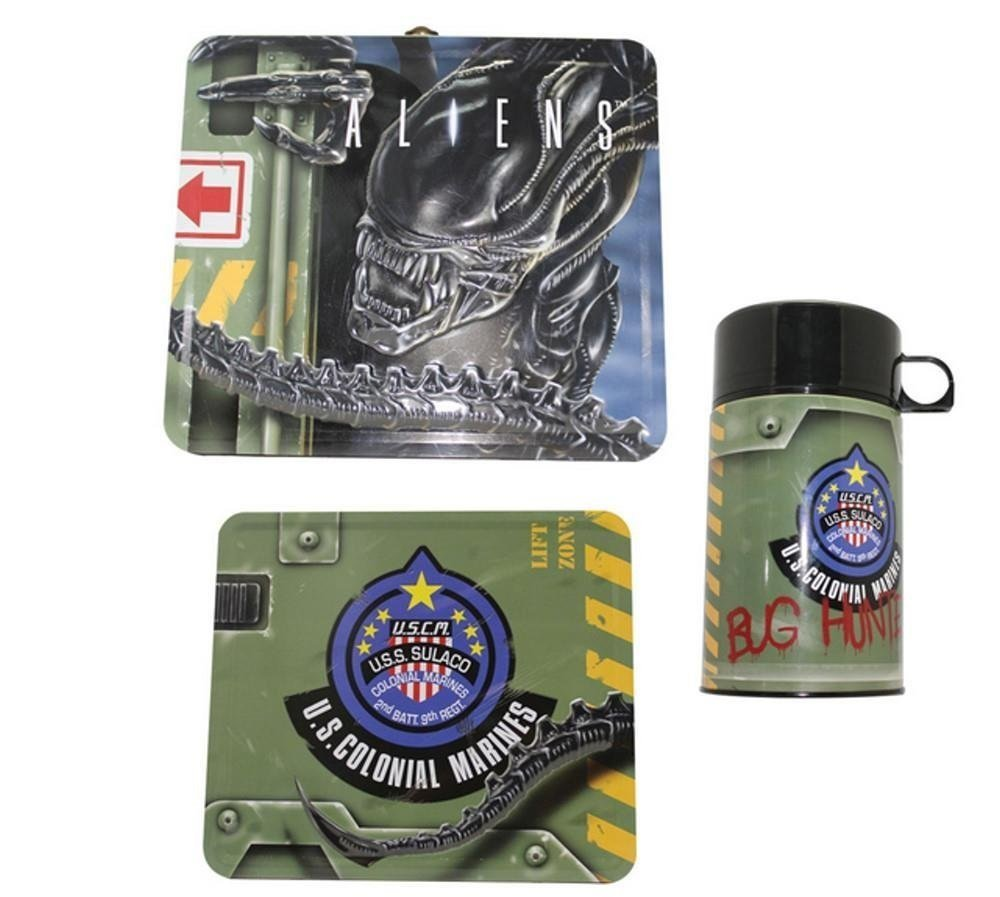 Aliens Tin Lunchbox with Thermos