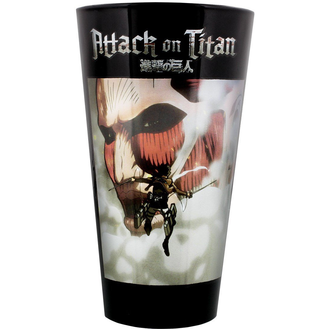 Attack on Titan Erin and Titan Pint Glass Uncanny!
