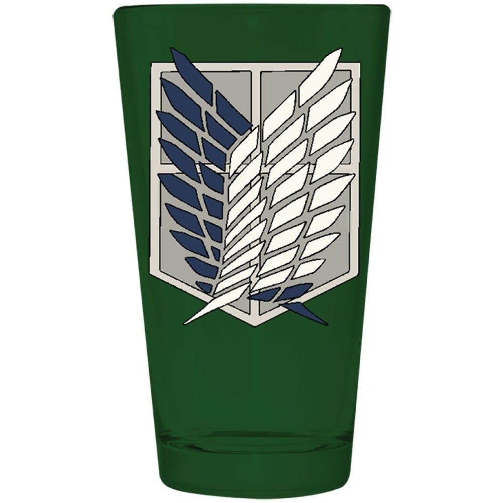 Attack On Titan Scout Emblem Pint Glass