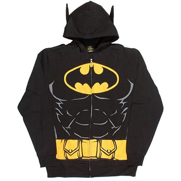 Batman Costume Hoodie with Cape Uncanny!