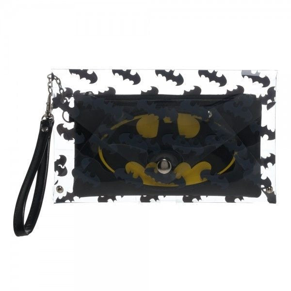 Batman Clear Envelope Wristlet Wallet
