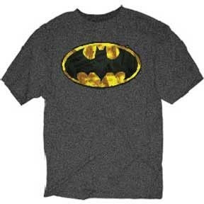 Batman Painted Symbol Grey Shirt Uncanny!