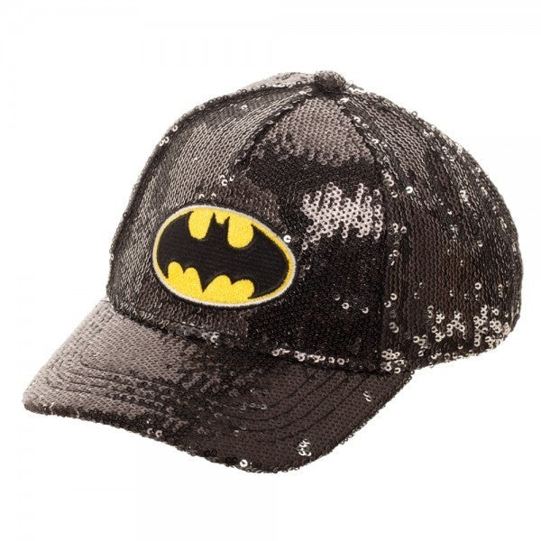 Batman Sequined Youth Snapback Hat