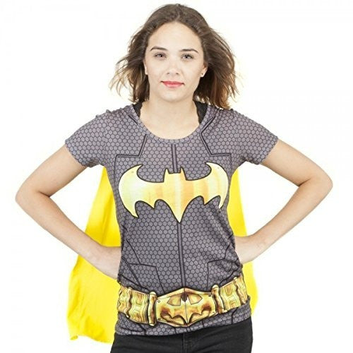 Batman Suit Up Sublimated Womens Caped T-Shirt