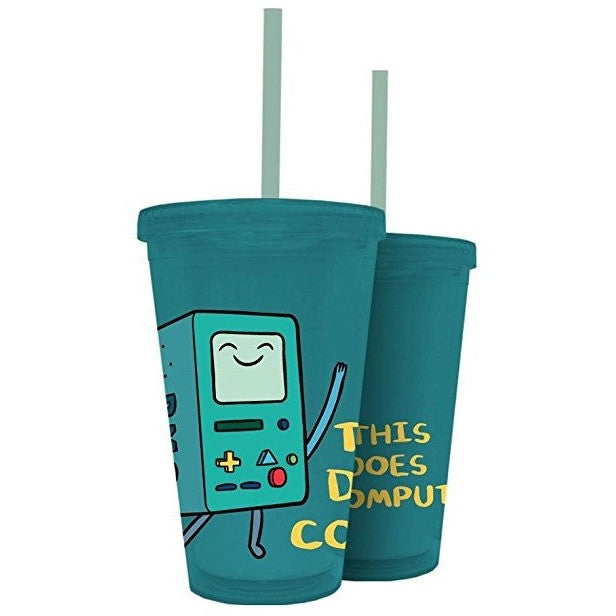 Adventure Time Plastic Travel Cup with Straw