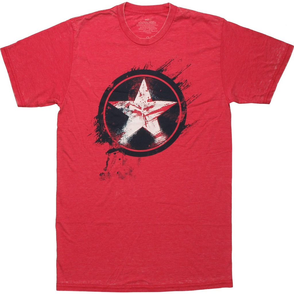 Captain America Painted Shield Shirt