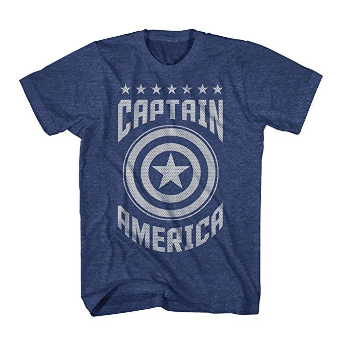 Captain America Blue Varsity Shirt