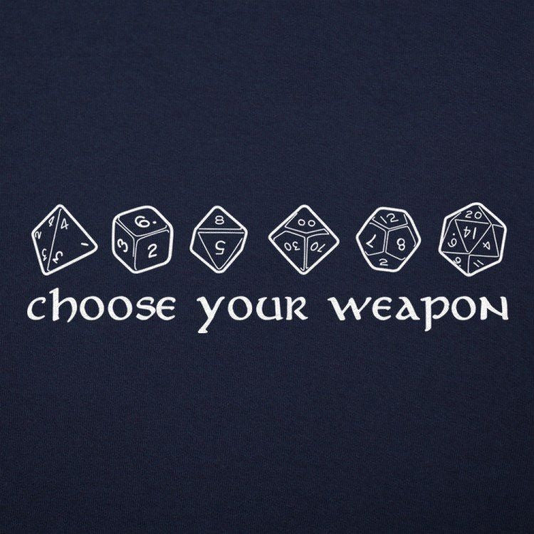 Choose Your Weapon Navy Juniors Shirt
