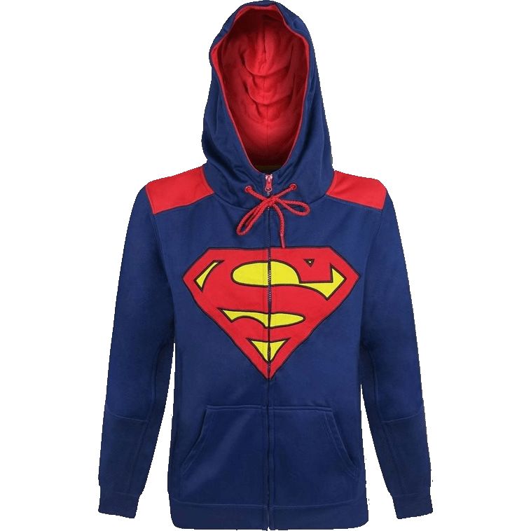 Superman Pieced Poly Hoodie Uncanny!