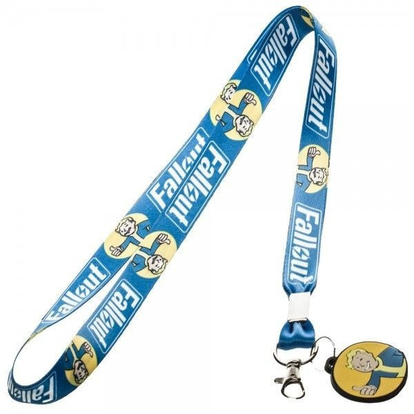 Fallout Blue Vault Boy Lanyard with Rubber Charm