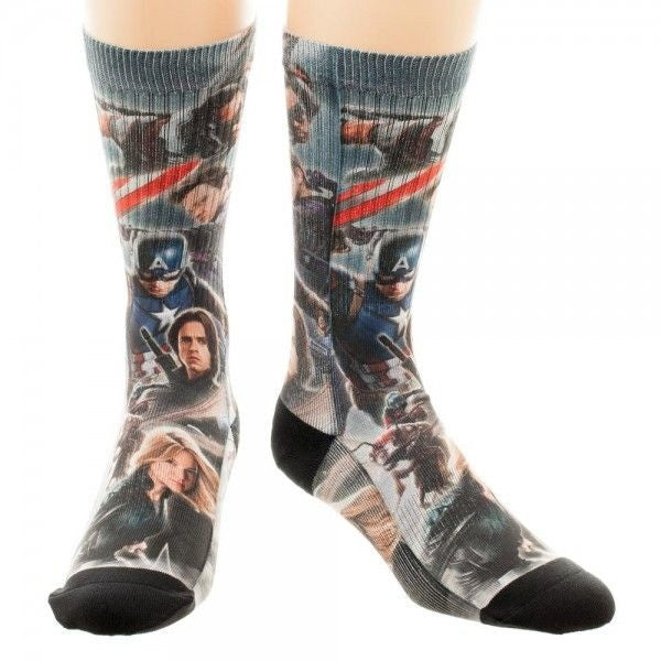 Captain America Civil War Crew Socks