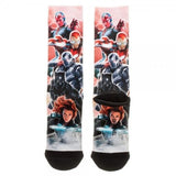 Captain America Civil War Stark's Team Crew Socks Uncanny!