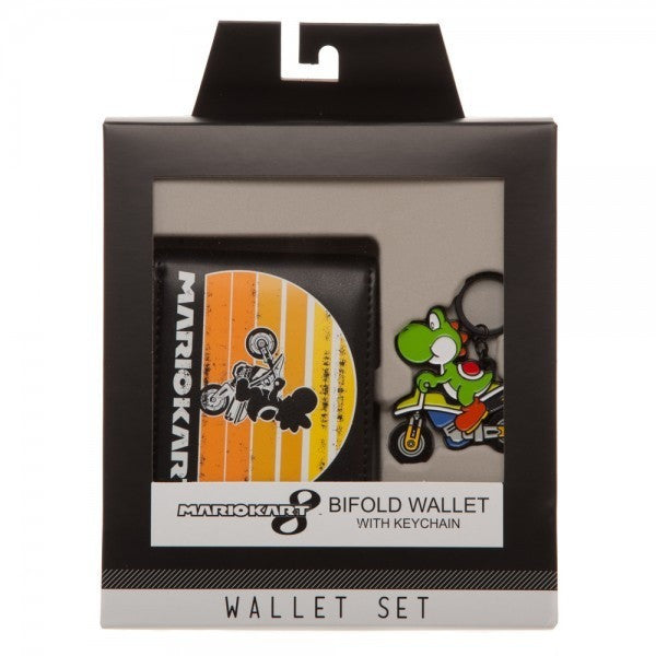 Mario Kart 8 Bifold Wallet with Keychain Uncanny!