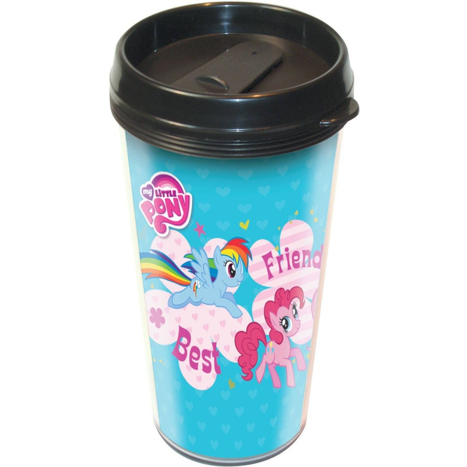 My Little Pony Best Friends Forever Plastic Travel Mug Uncanny!