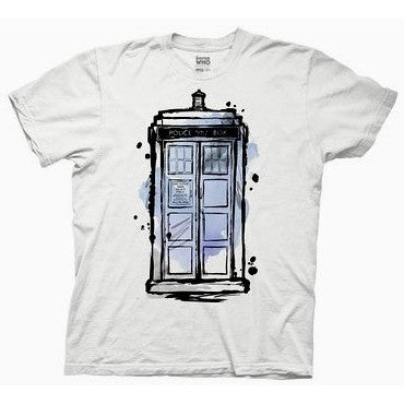 Doctor Who Watercolor Tardis Shirt Uncanny!