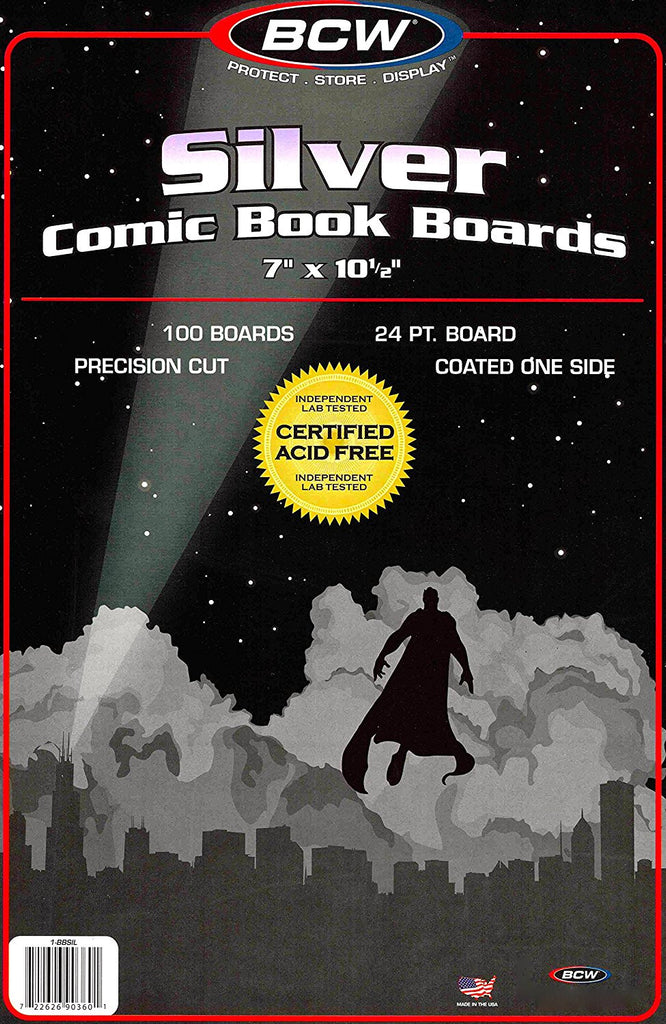 Silver Age Comic Storage Boards (100 Count)