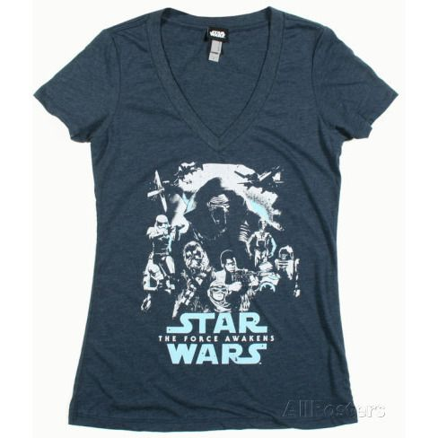 Star Wars Force Awakens V-neck Uncanny!
