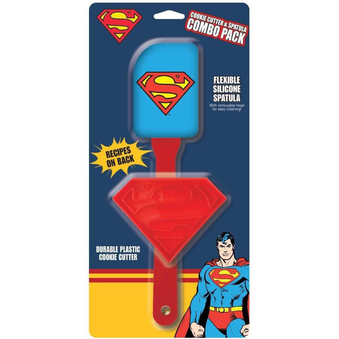Superman Cookie Cutter & Spatula Combo Pack Uncanny!