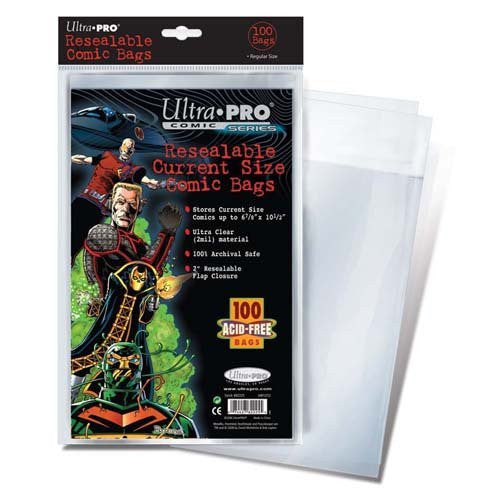 Ultra Pro Resealable Current Size Bags (100 Acid Free)