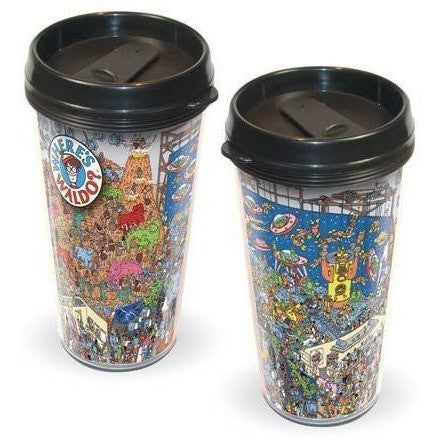 Where's Waldo Plastic Travel Mug Uncanny!