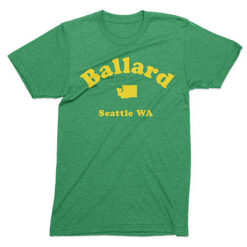 Ballard Seattle tshirt - Totally Radical Awesome