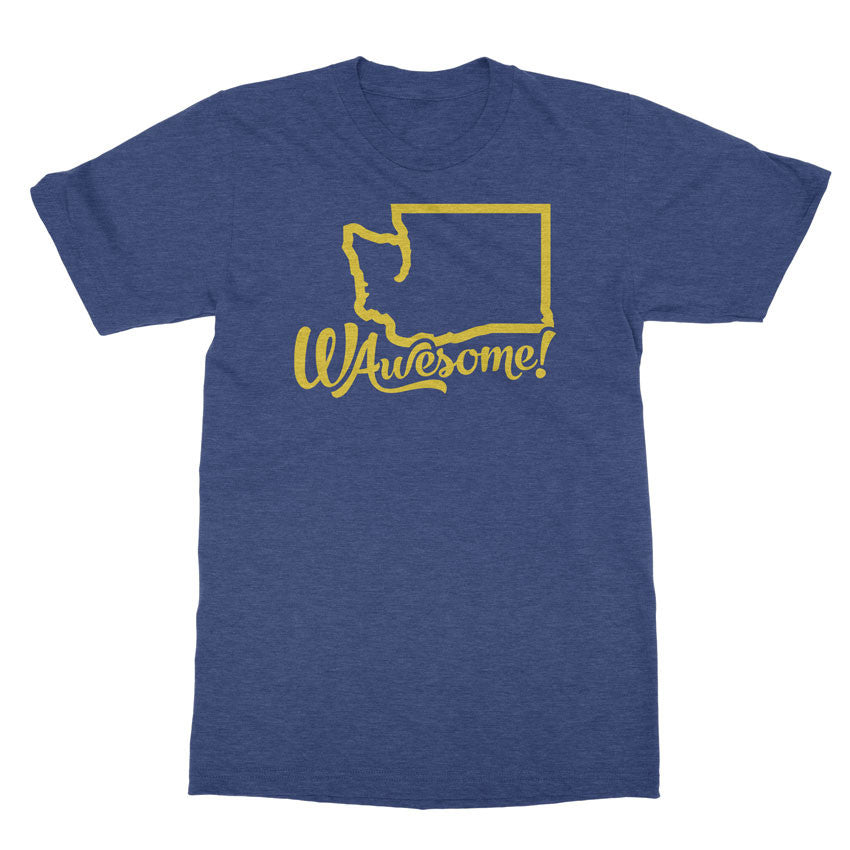 WAwesome! - Washington is awesome tshirt - Totally Radical Awesome