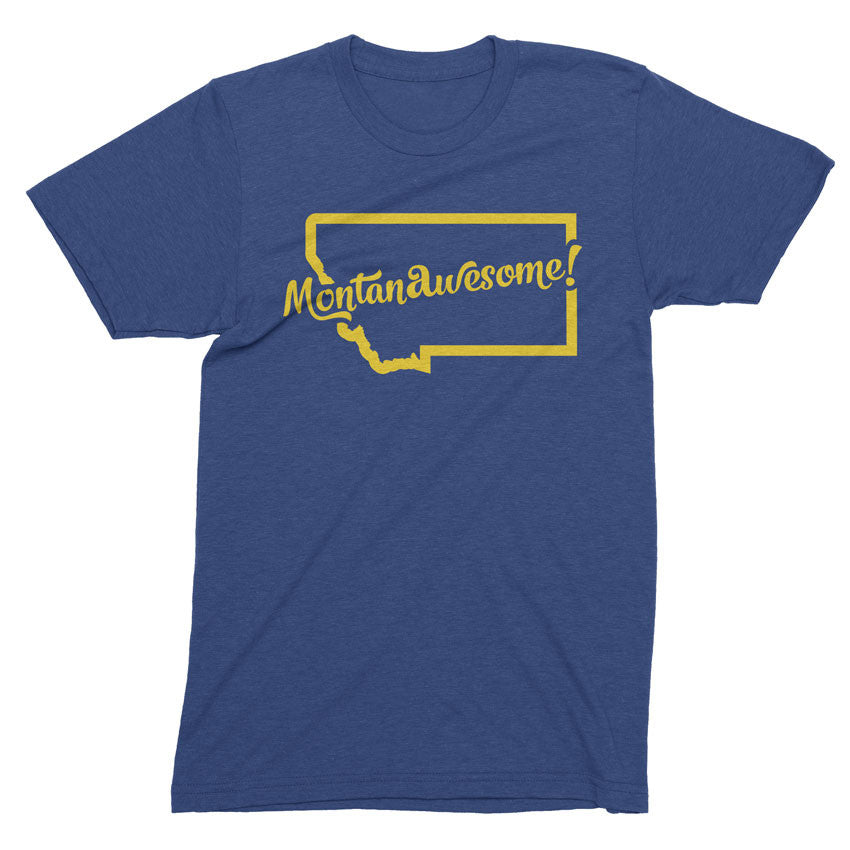MontanAwesome! - Montana is awesome tshirt - Totally Radical Awesome