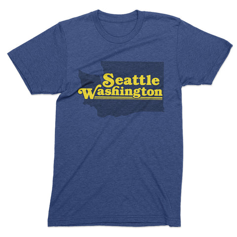 Seattle - Vintage Style t shirt - Totally Radical Awesome