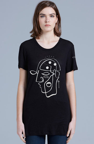 Women's Black T Shirt - Ken Griffen. Limited Edition. Minds for Minds