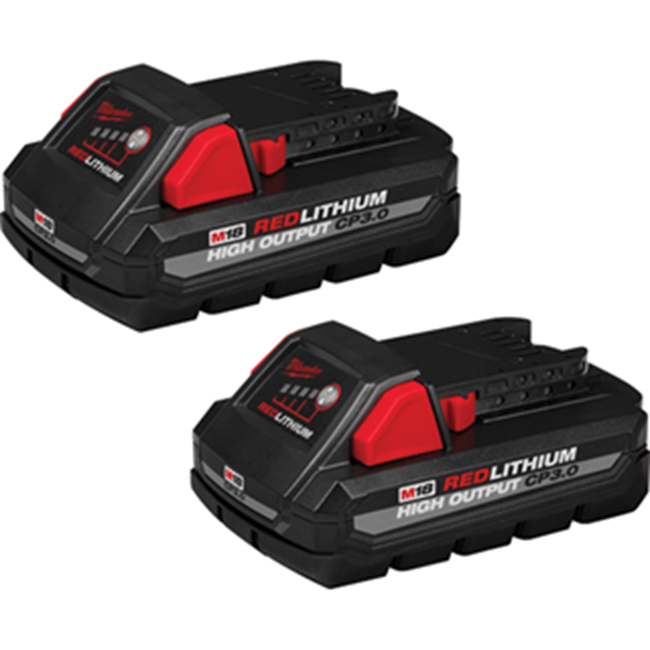 Milwaukee M18 CP3.0 Battery 2-Pack Red lithium High Output 48-11-1837 - Direct Tool Source