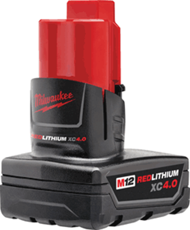 Milwaukee M12 XC 4 Amp Battery 48-11-2440 - Direct Tool Source