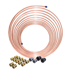 AGS COMPANY SOLUTIONS LLC 3/16 x 25 Nickel Copper BrakeLine Coil and Tube Nut Kit AKCNC-325K - Direct Tool Source