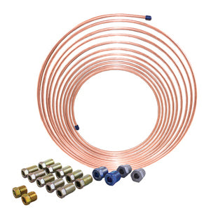 AGS COMPANY SOLUTIONS LLC 1/4 x 25 Nickel Copper BrakeLine Coil and Tube Nut Kit AKCNC-425K